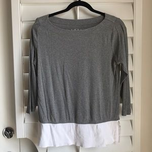 Ann Taylor Loft Long 3/4 Sleeve Top
